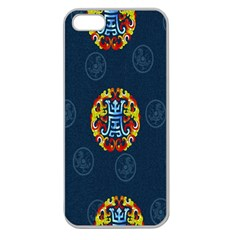 China Wind Dragon Apple Seamless iPhone 5 Case (Clear)