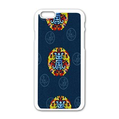 China Wind Dragon Apple iPhone 6/6S White Enamel Case