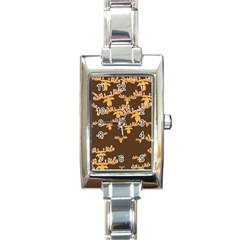 Christmas Reindeer Pattern Rectangle Italian Charm Watch