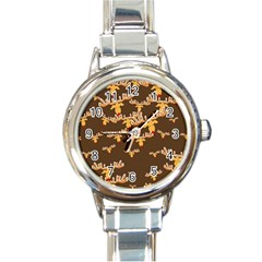 Christmas Reindeer Pattern Round Italian Charm Watch