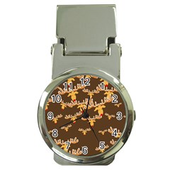 Christmas Reindeer Pattern Money Clip Watches