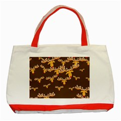 Christmas Reindeer Pattern Classic Tote Bag (Red)