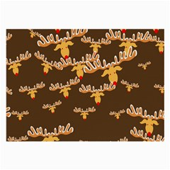 Christmas Reindeer Pattern Large Glasses Cloth (2-Side)