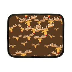 Christmas Reindeer Pattern Netbook Case (Small)