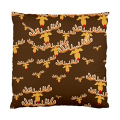 Christmas Reindeer Pattern Standard Cushion Case (Two Sides)