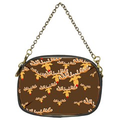 Christmas Reindeer Pattern Chain Purses (Two Sides)