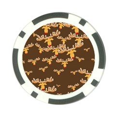 Christmas Reindeer Pattern Poker Chip Card Guard (10 Pack)