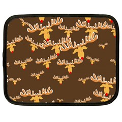 Christmas Reindeer Pattern Netbook Case (XL)