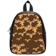 Christmas Reindeer Pattern School Bags (Small)