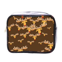 Christmas Reindeer Pattern Mini Toiletries Bags