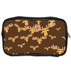 Christmas Reindeer Pattern Toiletries Bags 2-Side