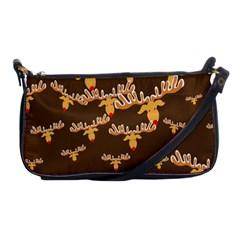 Christmas Reindeer Pattern Shoulder Clutch Bags