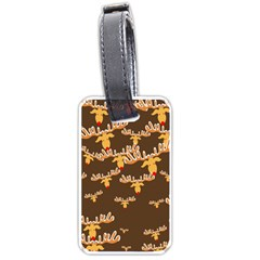 Christmas Reindeer Pattern Luggage Tags (One Side)