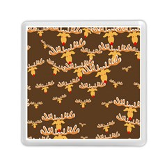 Christmas Reindeer Pattern Memory Card Reader (square)