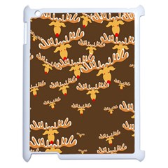Christmas Reindeer Pattern Apple iPad 2 Case (White)
