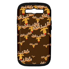 Christmas Reindeer Pattern Samsung Galaxy S III Hardshell Case (PC+Silicone)