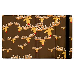 Christmas Reindeer Pattern Apple Ipad 2 Flip Case