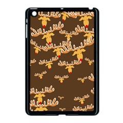 Christmas Reindeer Pattern Apple iPad Mini Case (Black)