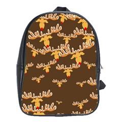 Christmas Reindeer Pattern School Bags (XL)