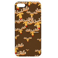 Christmas Reindeer Pattern Apple iPhone 5 Hardshell Case with Stand