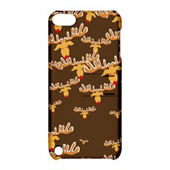 Christmas Reindeer Pattern Apple Ipod Touch 5 Hardshell Case With Stand