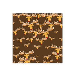 Christmas Reindeer Pattern Satin Bandana Scarf