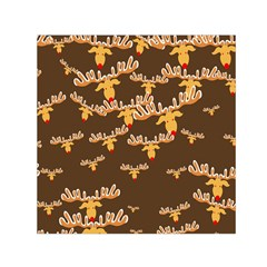 Christmas Reindeer Pattern Small Satin Scarf (Square)