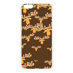 Christmas Reindeer Pattern Apple Seamless iPhone 6 Plus/6S Plus Case (Transparent)