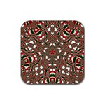 Christmas Kaleidoscope Rubber Coaster (Square)  Front