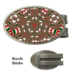 Christmas Kaleidoscope Money Clips (Oval)