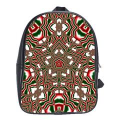 Christmas Kaleidoscope School Bags(Large)