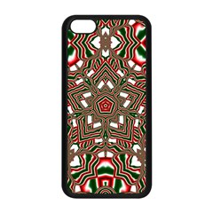 Christmas Kaleidoscope Apple Iphone 5c Seamless Case (black)