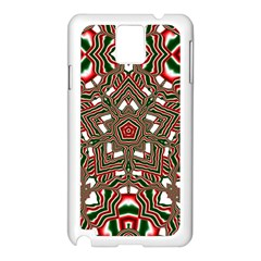 Christmas Kaleidoscope Samsung Galaxy Note 3 N9005 Case (White)