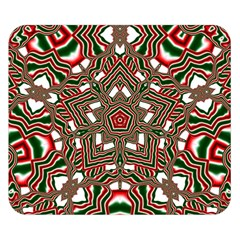 Christmas Kaleidoscope Double Sided Flano Blanket (Small)