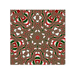 Christmas Kaleidoscope Small Satin Scarf (Square)