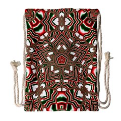 Christmas Kaleidoscope Drawstring Bag (large)