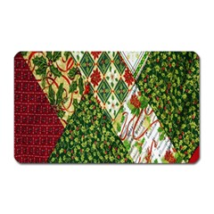 Christmas Quilt Background Magnet (rectangular)