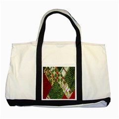Christmas Quilt Background Two Tone Tote Bag
