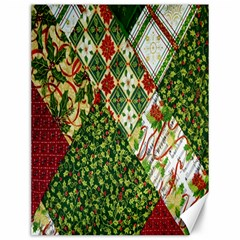 Christmas Quilt Background Canvas 12  x 16