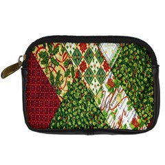 Christmas Quilt Background Digital Camera Cases