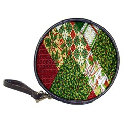 Christmas Quilt Background Classic 20-CD Wallets