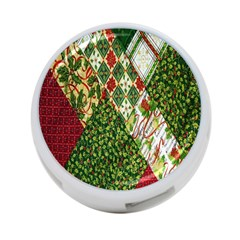 Christmas Quilt Background 4-Port USB Hub (One Side)