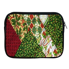 Christmas Quilt Background Apple iPad 2/3/4 Zipper Cases