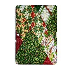 Christmas Quilt Background Samsung Galaxy Tab 2 (10 1 ) P5100 Hardshell Case