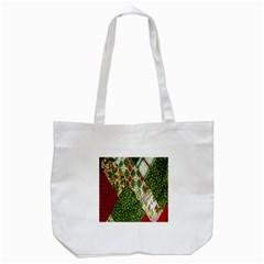 Christmas Quilt Background Tote Bag (white)