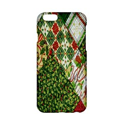 Christmas Quilt Background Apple iPhone 6/6S Hardshell Case