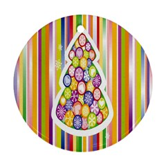 Christmas Tree Colorful Ornament (Round)