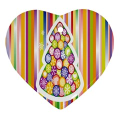 Christmas Tree Colorful Ornament (heart)