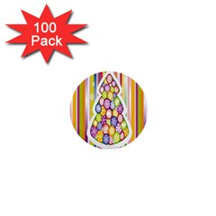 Christmas Tree Colorful 1  Mini Buttons (100 pack)