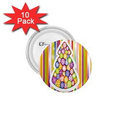 Christmas Tree Colorful 1 75  Buttons (10 Pack)